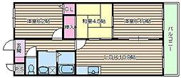 ラ・メゾン・ブリエ[2階]の間取り