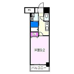 JR阪和線 津久野駅 徒歩6分の賃貸マンション 5階1Kの間取り