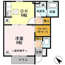 ボナール鎌倉[1階]の間取り