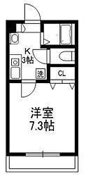 メゾン西片壱番館 3階1Kの間取り