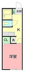 神奈川県平塚市見附町の賃貸マンションの間取り