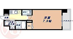 Osaka Metro千日前線 桜川駅 徒歩9分の賃貸マンション 8階1Kの間取り