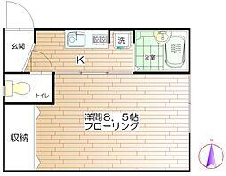 アムール翠[1階]の間取り