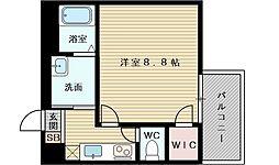 フジパレス東淀川6番館 3階1Kの間取り