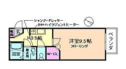 大阪府豊中市服部元町2丁目の賃貸アパートの間取り