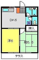神奈川県横浜市瀬谷区瀬谷2の賃貸アパートの間取り