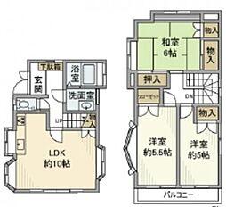 西武新宿線 入曽駅 徒歩5分の賃貸一戸建て 3LDKの間取り