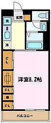 リブリ・中野島 1階1Kの間取り