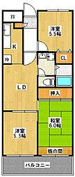 カーサシンフォニア[3階]の間取り