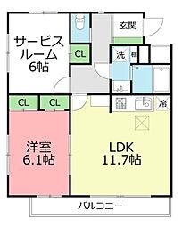 H・S茅ヶ崎[1階]の間取り