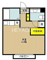 東京都日野市神明3の賃貸アパートの間取り
