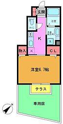 MYU東船橋[1階]の間取り