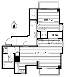 倉島第二ビル[5階]の間取り