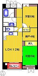 サンクレージュ狛江[203号室]の間取り