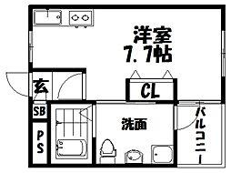 仮称)シャンテー宮之阪[3階]の間取り