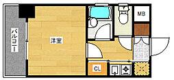 ピュアドームパレス博多[3階]の間取り