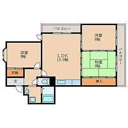 シャトープリローダ1[4階]の間取り