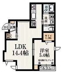 (仮称)豪徳寺1丁目メゾン 3階1LDKの間取り