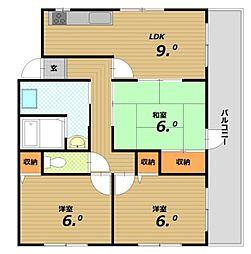 メゾンド蘭[3階]の間取り