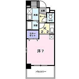 ビューラー鷺沼I[1階]の間取り