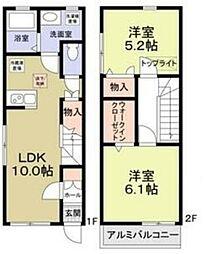 (仮称)府中市清水ヶ丘2丁目計画 1階2LDKの間取り