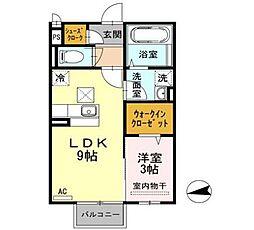 新潟県新潟市中央区幸町の賃貸アパートの間取り