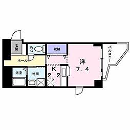 ヤマトエストASAHIYA[704号室]の間取り