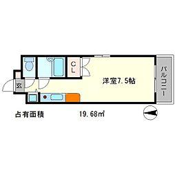 HAKUHO[5階]の間取り