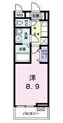 神奈川県厚木市酒井の賃貸アパートの間取り