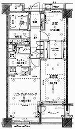 ピアース東京インプレイス[3階]の間取り