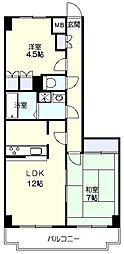グレイスマンション[4階]の間取り