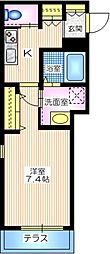 横浜市営地下鉄ブルーライン 三ツ沢下町駅 徒歩3分の賃貸マンション 3階1Kの間取り