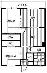 第2山下ビル[402号室]の間取り