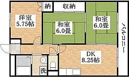 ウィンディ田中[2階]の間取り