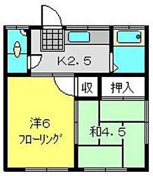 大福荘[5号室]の間取り