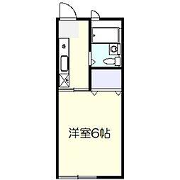 ジュネス上倉田[2階]の間取り