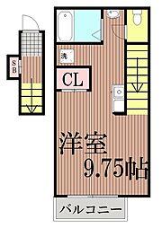 東京都大田区大森東5丁目の賃貸アパートの間取り