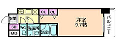 プレサンスNEO淀屋橋[11階]の間取り