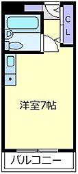 朋竹ハイツ[1階]の間取り