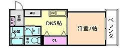 MANSION萬VI[5階]の間取り