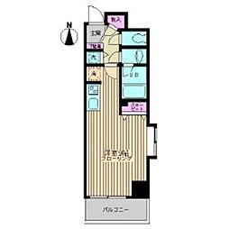 東京メトロ東西線 葛西駅 徒歩5分の賃貸マンション 1階ワンルームの間取り