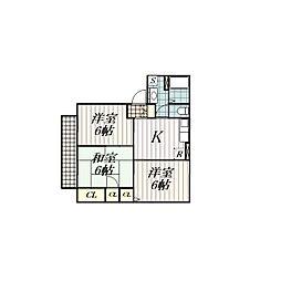 ルピナス幕張[2階]の間取り