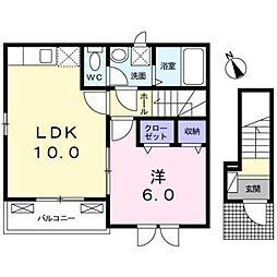 東京都武蔵野市吉祥寺北町5丁目の賃貸アパートの間取り