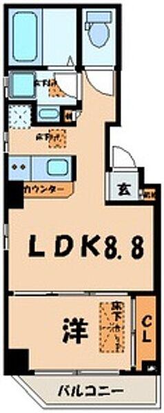 東京都江東区新大橋3丁目の賃貸マンションの間取り