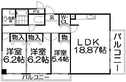 メゾンS&T[6階]の間取り