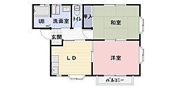 静岡県牧之原市布引原の賃貸アパートの間取り