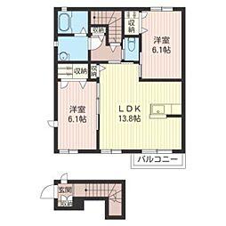 La Dolce II[2階]の間取り