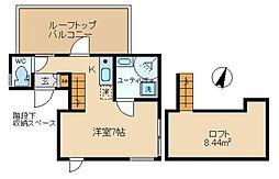 NEWFORT西新宿 3階ワンルームの間取り