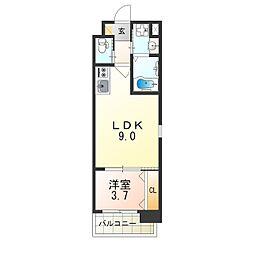 おおさか東線 南吹田駅 徒歩7分の賃貸マンション 6階1LDKの間取り