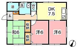 [一戸建] 岡山県倉敷市玉島 の賃貸【/】の間取り